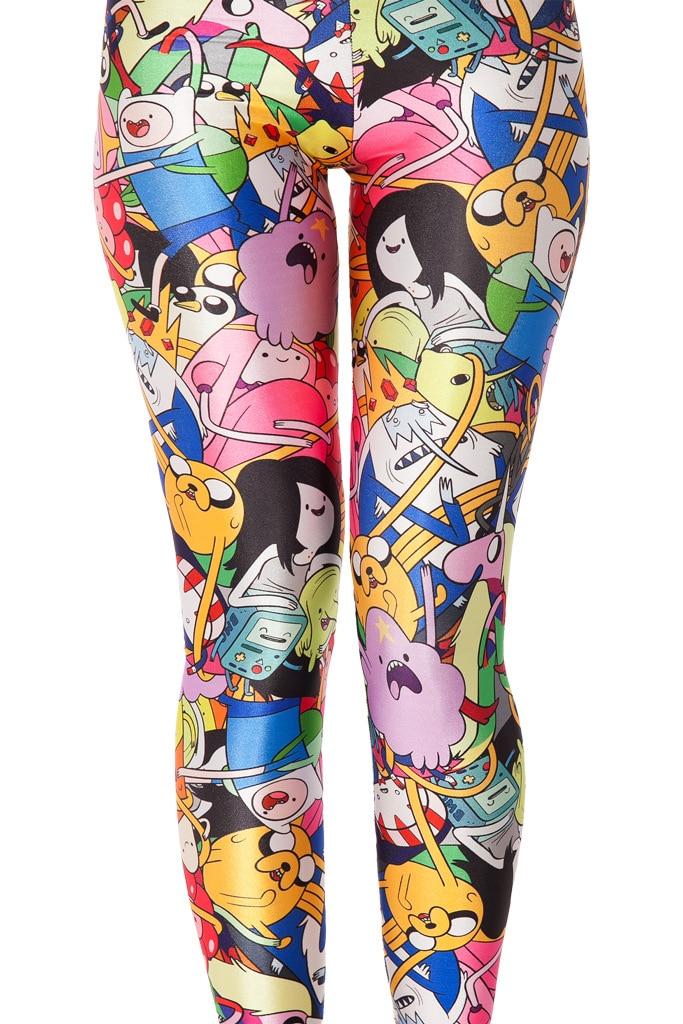 2016 Cute Anime Cartoon Womens Leggings For Women Printed Leggings Casual Legging Fitness Legging Nainen Leggingsit