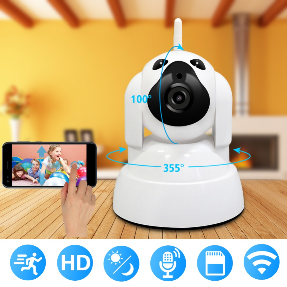 WiFi IP Camera 720P HD Wireless Indoor Home Security Surveillance Camera With Night Vision Motion Detection Playback For Baby oiyea ptz double antenna hd 720p infrared night vision motion detection wifi home security ip surveillance camera