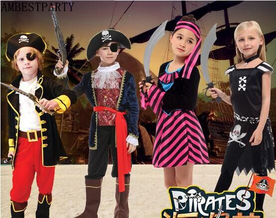2017 Caribbean pirate costume girls boys party cosplay Kids Halloween Christmas Captain clothes performance Clothes AMBESTPARTY-in Boys Costumes from ...  sc 1 st  AliExpress.com & 2017 Caribbean pirate costume girls boys party cosplay Kids ...