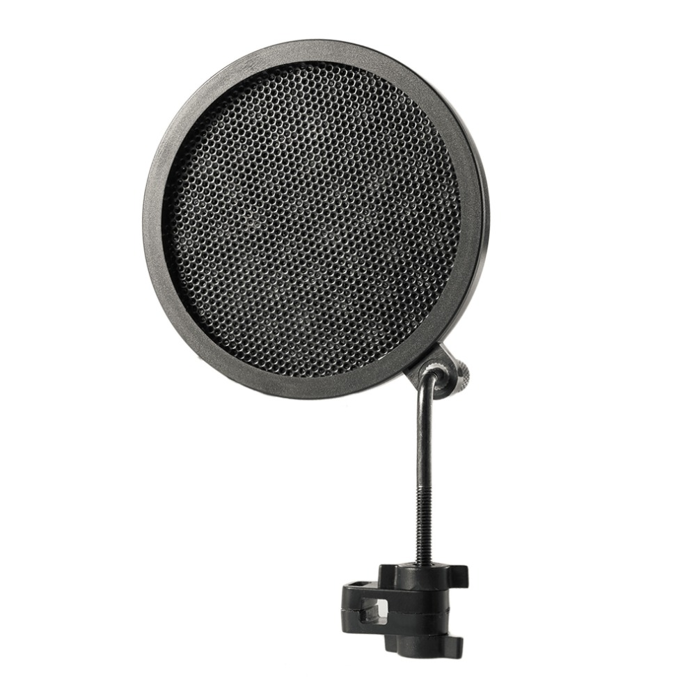 Image 2 - PS 2 Double Layer Studio Microphone Mic Wind Screen Pop Filter/ Swivel Mount / Mask Shied For Speaking Recording stand-in Mic Stand from Consumer Electronics