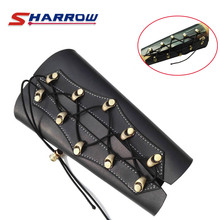 1 Piece Black Arm Guard Archery Arm Safety Protection PU Material For Hunting Shooting Sports Safety Gear mayitr black 4 adjustable straps archery arm guard shooting bow string arm protector gear for hunting training protection
