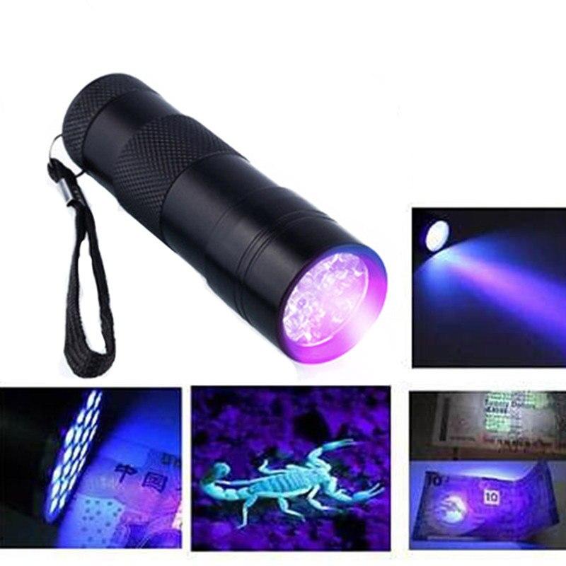 9LED Ultraviolet Lamp LED UV Flashlight Ultraviolet Flashlight Torch Light Ultra Violet Flash Light 395nm Blacklight(China)