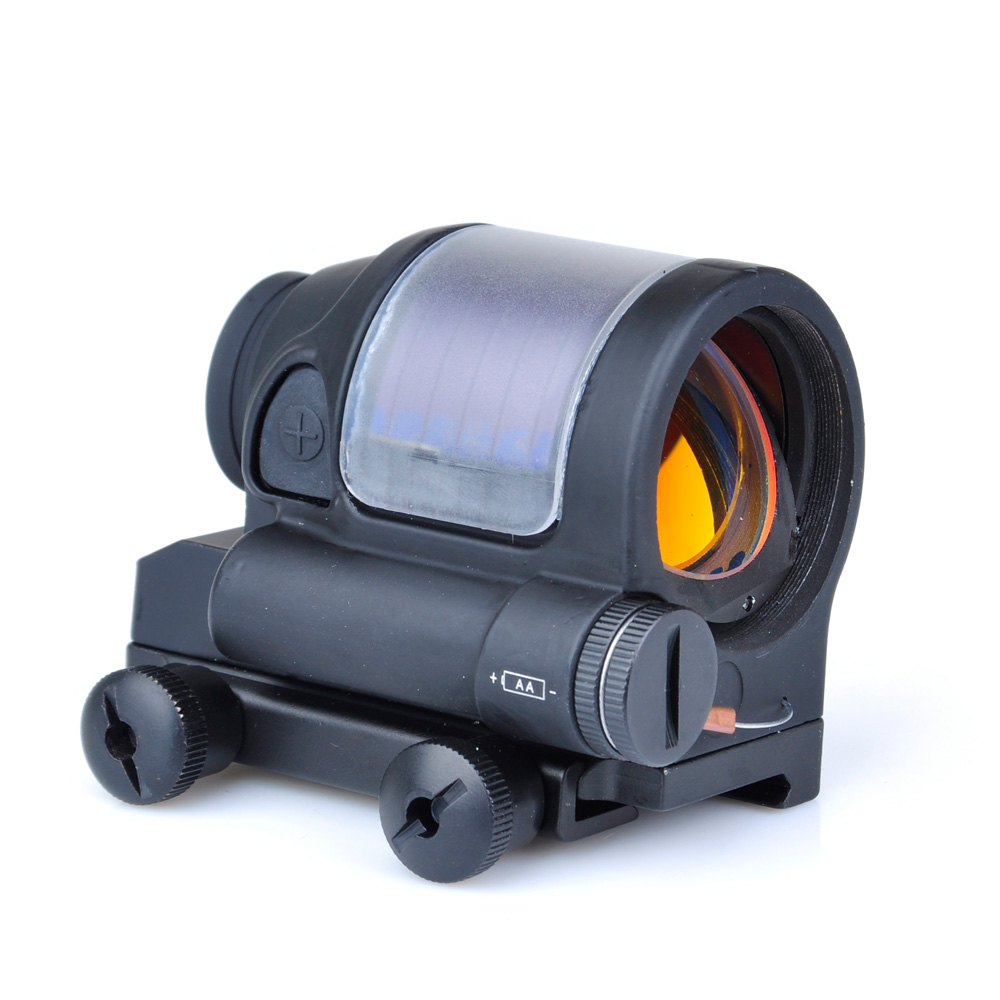 Aim 1x38 SRS Iron Reflex Red Dot Sight Tactical Airsoft RifleScope Hunting Shooting Scope AO5047 aim o red dot tactical hunting sight scope srs reflex 1x38 iron optics riflescope for airgun ao3040