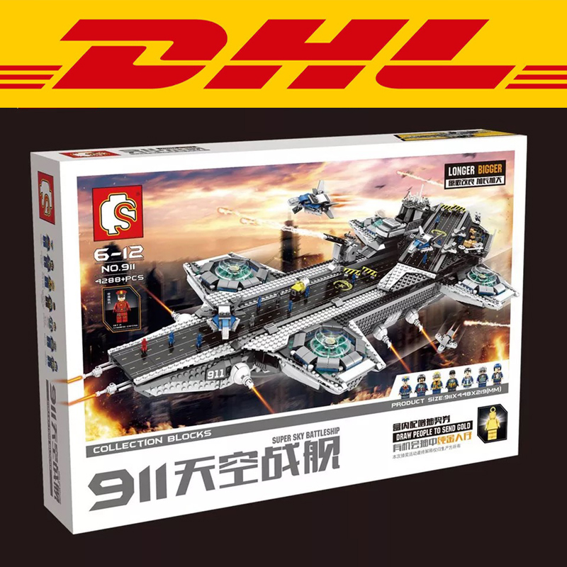 2017 New Sembo SY911 4288Pcs Super Heroes The Shield Hellicarrier Children Educational Model Building Kits Brick Toys Gift 76042 2017 new sembo sy911 4288pcs super heroes the shield hellicarrier children educational model building kits brick toys gift 76042