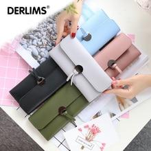 DERLIMS NEW Style Long Solid Knot Fold Wallet New Handbag Handbags Multicolor Wallet Long Card Pack