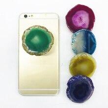 Держатель для телефона, новинка, популярное кольцо с агатом, расширяющаяся подставка, держатель для пальца, подставка для мобильного телефона