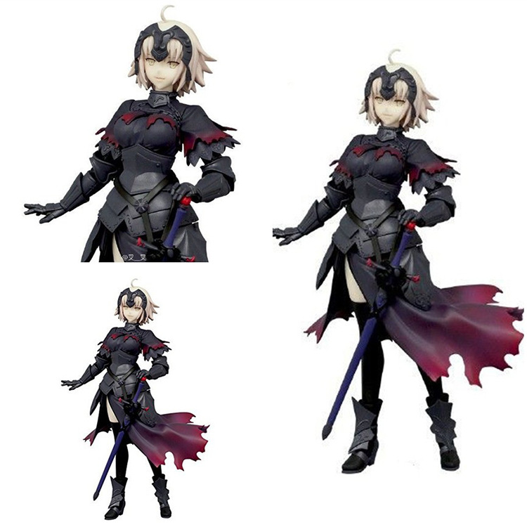 16CM PVC Alter Fate Hollow Saber Jeanne Action Figures Toys for Boys Gifts Collections Brinquedos with Box 40 cm kaws original fake plastic action figures new 2016 kids toys gifts baby clean slate brinquedos with box