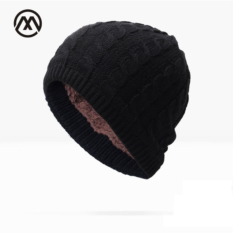 2017 New Fashion Plus Cashmere Winter Knit Hats For Men Women Baggy Cap Twist Skullies Bonnet knitted  Stocking Hats Beanies 2017 new lace beanies hats for women skullies baggy cap autumn winter russia designer skullies