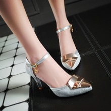 Sexy silver gold high heels sandals