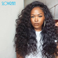Long Peruvian Hair Loose Curly Lace Front Wigs Unprocessed Glueless Peruvian Virgin Hair Curly Full Lace Wigs For Black Women