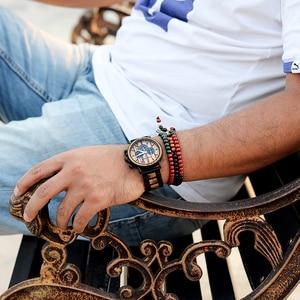 Image 5 - BOBO Marca UCCELLO di Metallo Degli uomini di Legno Orologio Cronografo Movimento Al Quarzo Orologio Da Polso Calendario Orologio Logo Personalizza Il Regalo Di Natale
