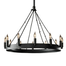 Circle Candle Chandelier Vintage Round wrought Metal E14 Lamps For Living Room Cafe Bedroom Clothing store Chandelier G123(China)