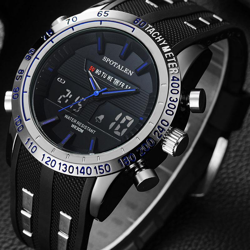 Prix pour Relogio Masculino Sport Montre Hommes Étanche Militaire Marque De Luxe Homme Montre-bracelet Numérique Électronique LED Choc Montre xfcs