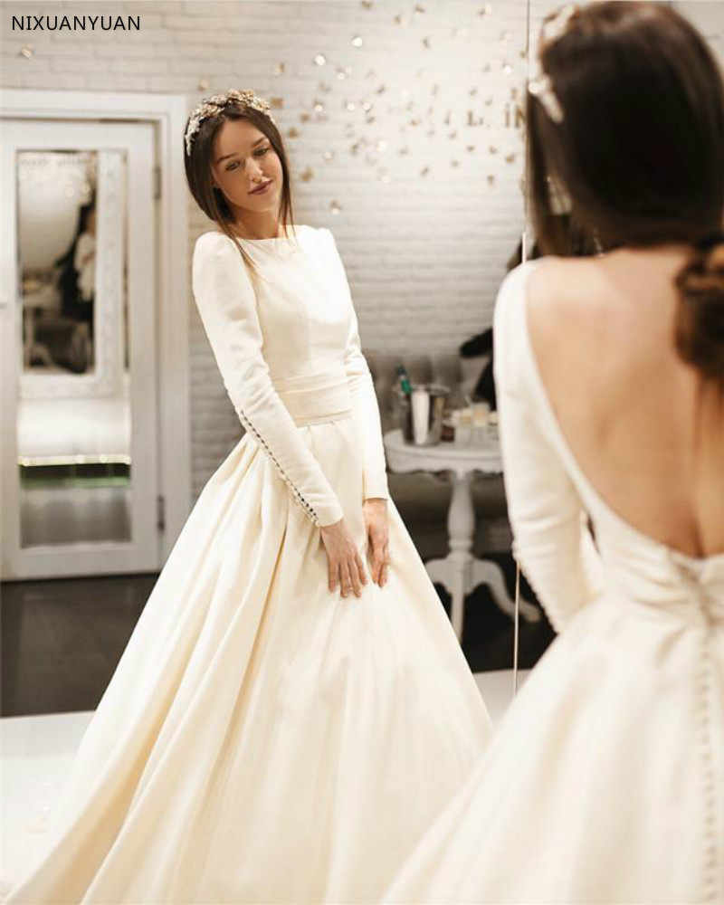dcf9c2eb33 Detail Feedback Questions about A Line 2019 Wedding Dresses With ...