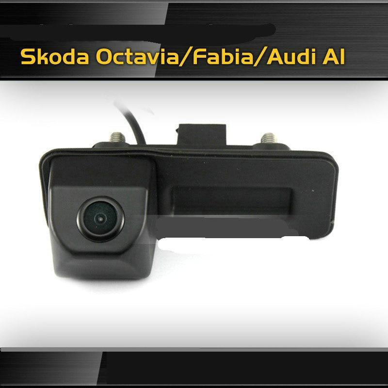 ANSHILONG HD Visão CCD Noite câmera de Visão Traseira Do Carro Câmera Reversa Do Carro para Audi A1/Skoda Fabia Frete Grátis