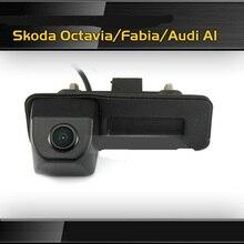 ANSHILONG HD Opinión Posterior Del Coche Del CCD de Visión Nocturna Cámara Del Coche Inversa para Audi A1/Skoda Octavia Fabia Envío Gratis