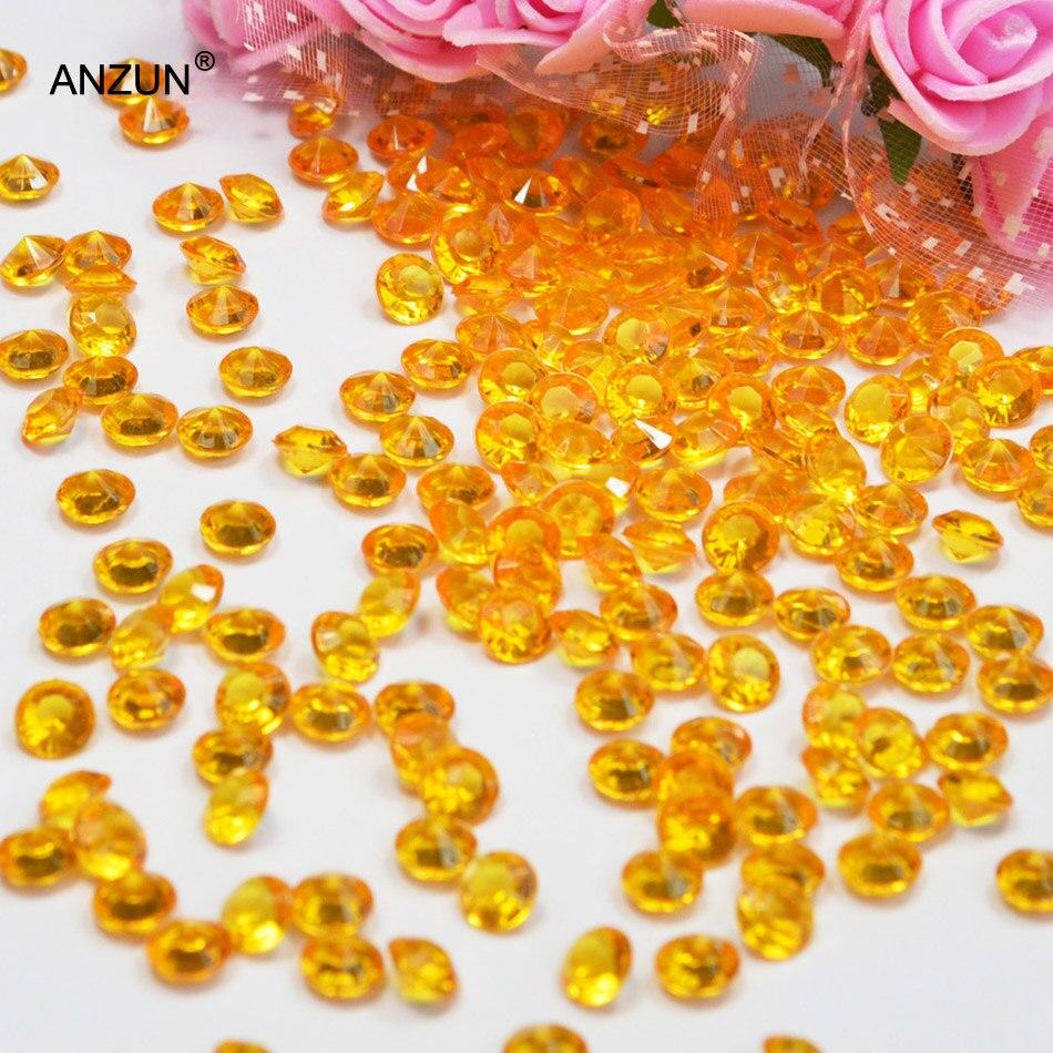 1000 шт 6 мм Свадебная вечеринка алмазные Конфетти Свадебные для декорации стола - Цвет: Dark gold