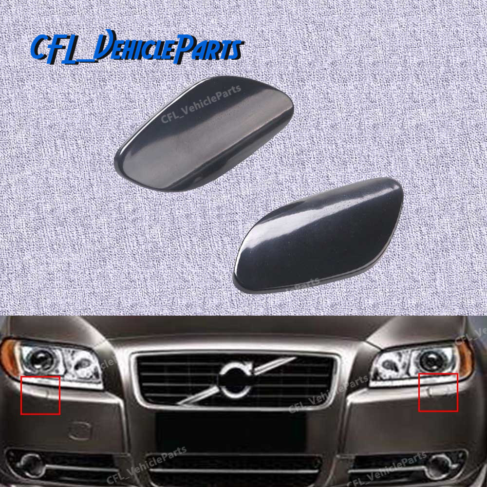 Car Right Front Bumper Headlight Washer Cover Cap Jet for Volvo S80 2007-2013