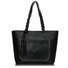 2017 Famous Brand Leather Handbag Bolsas Mujer Large Vintage Tassel Shoulder Bags Women Shopping Tote Bag Purse sac a main Li533