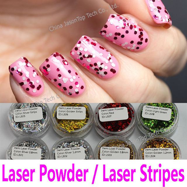 Nail Laser Powder Hexagon Glitter Powder Nail Art Decoration PVC ...
