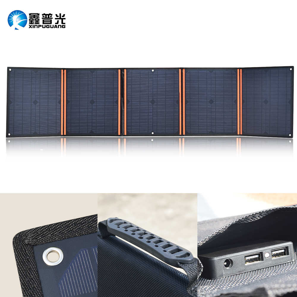 100W 18V Solar Panel Portable Foldable Bag Solar Module 5V USB for outdoor travel Camping Car Boat 12v Battery Charger