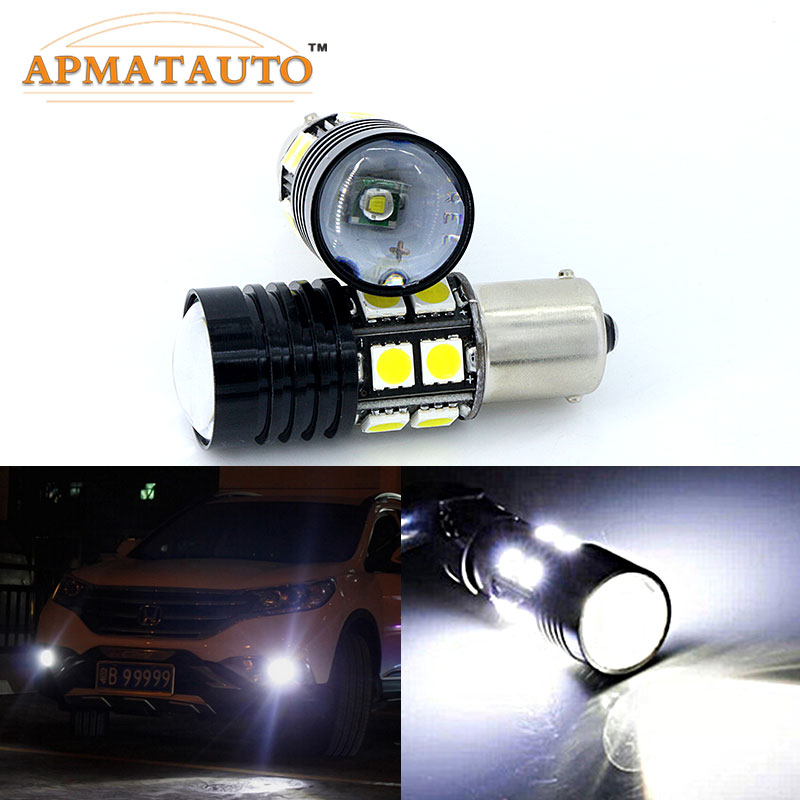 2 x 1156 For CREE Chips No Error Car LED Bulbs Daytime Running Lights Bulb For VW Volkswagen Jetta MK6 Scirocco Sharan SEAT boaosi 1x 9006 hb4 car canbus bulbs reflector mirror design fog lights no error for vw golf 6 mk6 scirocco t5 transporter