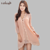 Sexy Brand robe female spring autumn robes & gowns sets short dressing gowns for women elegant pijama ladies bathrobes A92