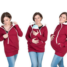 Fashion Multi-functional Hoodies Clothes for Pregnant Women Coat Winter Mother Kangaroo Baby Pocket Sweater Women Clothing