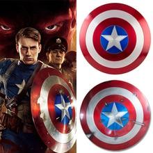 Aluminum Metal 1:1 Cosplay Prop Avengers Endgame Captain America Shield Steve Rogers BATTLE DAMAGE Gift