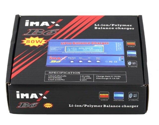 Завод оптовая Батареи Баланс Зарядное iMAX B6 Lipro Цифровой Баланс Зарядное Устройство/Разрядник + Зарядка Кабели YC021-SZ