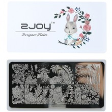 Super Quality 6*12 CM Flowers Nail Stamp Plate Flower Spring Series Butterfly #ZJOY21-30 Stamping Flates For Art