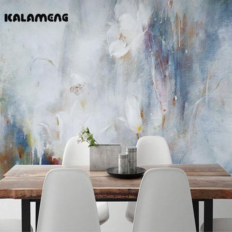 KALAMENG Custom 3D Wallpaper Design Abstract Watercolor Photo Kitchen Bedroom Living Room Wall Murals Papel De Parede large mural papel de parede european nostalgia abstract flower and bird wallpaper living room sofa tv wall bedroom 3d wallpaper