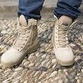 Desporto ao ar livre Botas Táticas CP Camo dos homens Masculinos Sapatos de Combate Do Exército Militar Botas commando Martin sapatos de couro