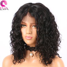Short Lace Front Human Hair Wigs For Women 150% Density Brazilian Remy Hair Curly 13×6 Deep Part Bob Wigs Pre Plucked Eva Hair