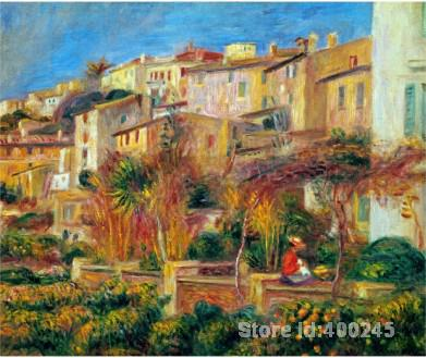painting of Landscape Terrace at Cagnes Pierre Auguste Renoir canvas art hand painted High qualitypainting of Landscape Terrace at Cagnes Pierre Auguste Renoir canvas art hand painted High quality