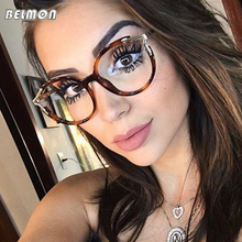 Belmon Optical Eyeglasses Frame Women Fashion Prescription Spectacles Round Glasses Frames Transparen Clear Lens Eyewear RS817