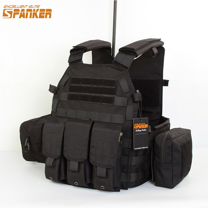 EXCELLENT ELITE SPANKER Hunting Molle Vests Tactical Army Camouflage Men's Vest Outdoor Jungle CS Tactical Military Equipment spanker 1000d camouflage tactical molle tank mechanic chef cooking grilling apron army training hunting waterproof nylon vest