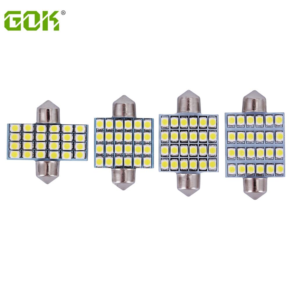 Free shipping 100pcs lot Car Auto Interior LED festoon 24smd 3528 1210 31mm 36mm 39mm 42mm