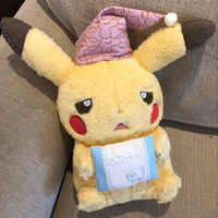 Christmas hat pikachu Plush toys for Children Sick Sad Pikachu with Candy Pillow Japan Monster Anime Game dolls Creative Pikachu