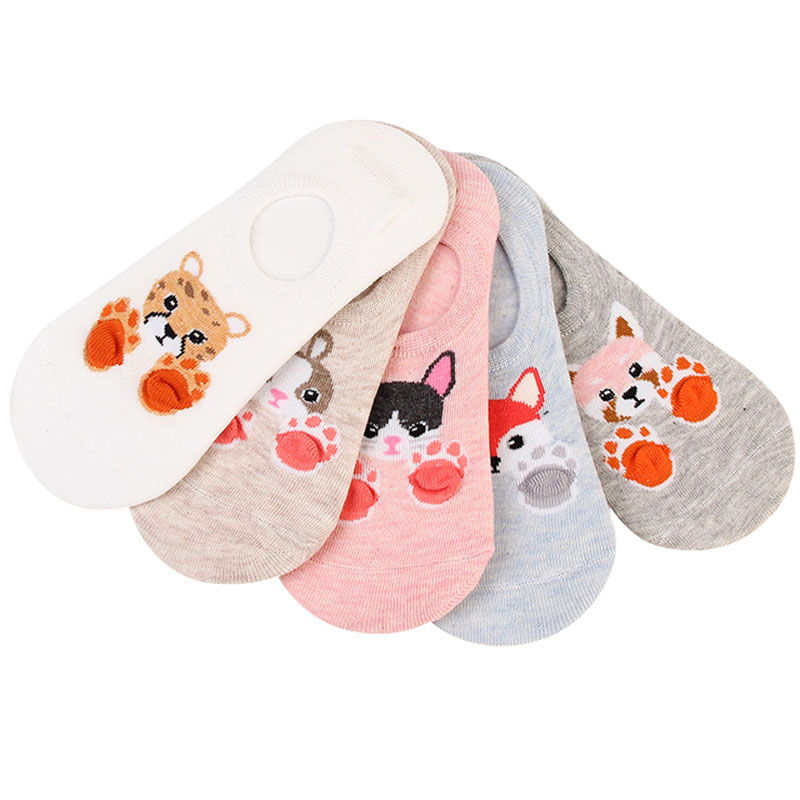 5Pairs/10Pcs Summer Cute Comfort Cotton Bamboo Fiber Girl Women's Socks Ankle Low Female Invisible Color Girl Sock Hosiery Meias