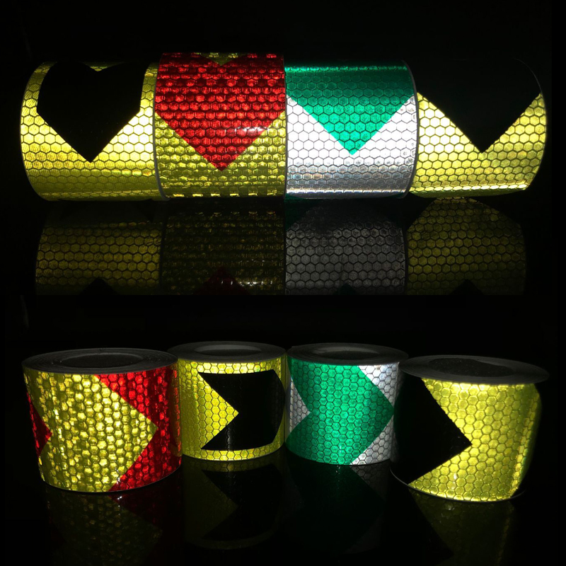 5cmx5m  Reflective Tape Stickers Car-styling Self Adhesive Warning Tape Automobiles Motorcycle Reflective Film