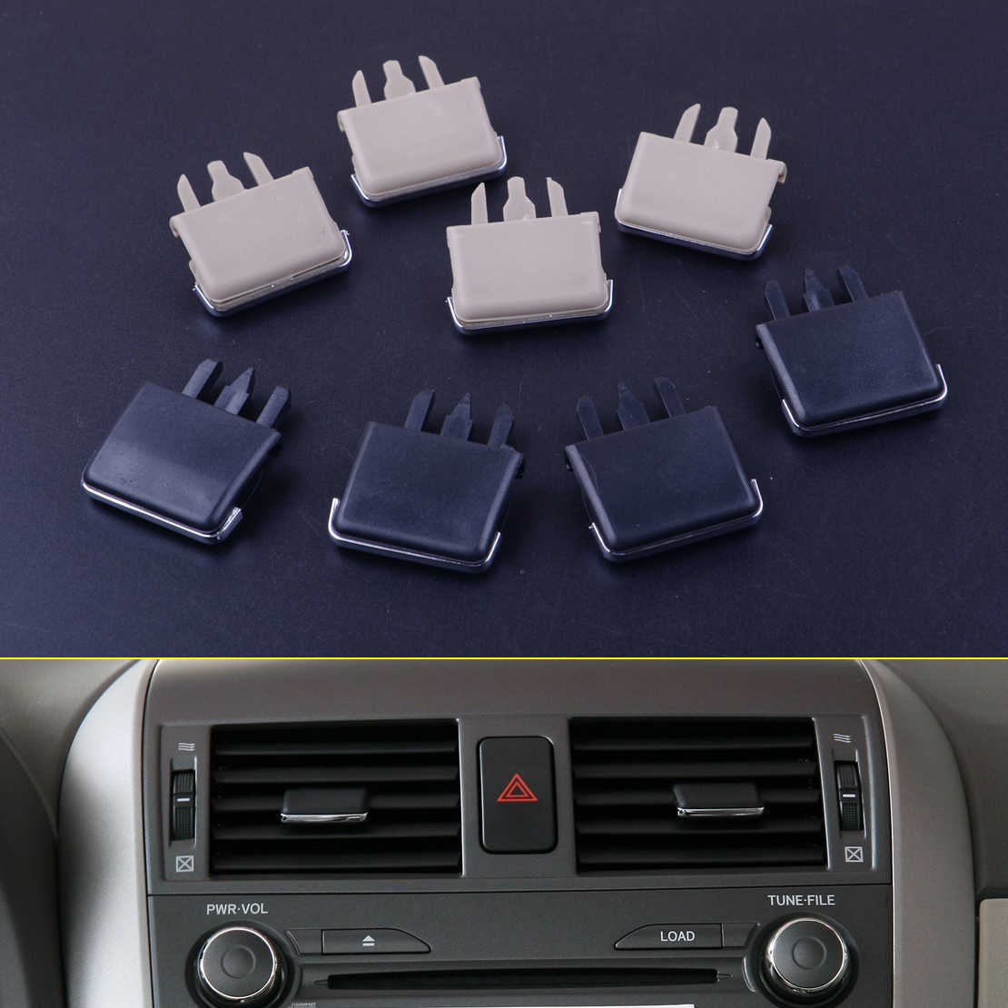 4Pcs/lot Car Center Dash A/C Air Conditioning Vent Louvre Blade Slice Leaf Clip For Toyota Corolla 2004 - 2007 2008 2009 2010