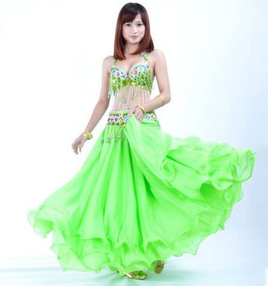 Green Belly Dance Costumes For Women Indian Belly Dance Suit Indian