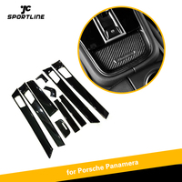 Real Carbon Fiber Interior Trim For Porsche Panamera 971 2017 19 Central Console Cover Door Handle trim dashboard cover LHD