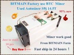 90%-95% جديد AntMiner S9j 14.5T Bitcoin Asic Btc BCH مينر أفضل من S9 S9i 13T 13.5T 14T whatsapp sminer M3 M3X BITMAIN التعدين مزرعة