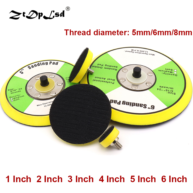 1Pcs 1-6 Inch Polishing Sanding Disc Self-adhesive Suction Cup Pad Sticky Disk Sandpaper Sucker For Electric Grinder Polish