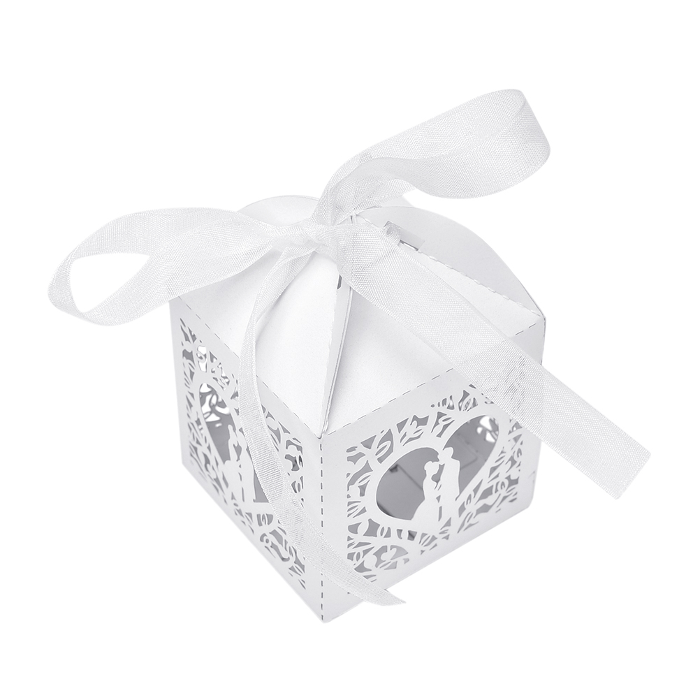 10Pcs/set Candy Boxes for Wedding gift Candy Love Heart bride groom ...