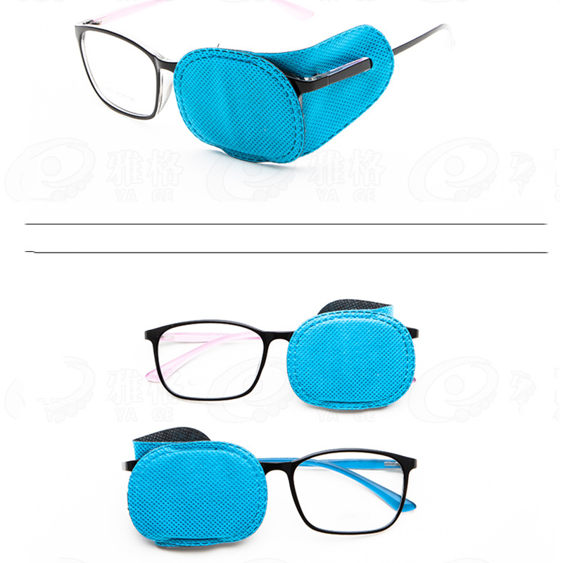 6 Pcs Children Amblyopia Eye Patches For Treating Strabismus Glasses Therapy Kids Corrective Vision Glasses Case