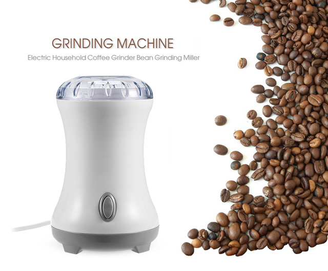 Portable Electric Coffee Grinder Machine Household Bean Grinding Miller Stainless Steel Burr