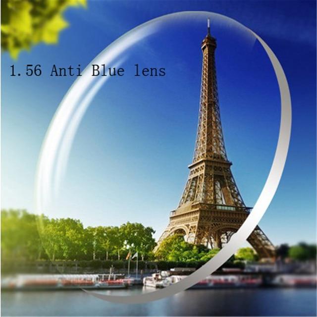 1.56 Anti-blue Custom Myopia glasses Prescription nearsighted lens women men discount glasses lens Optics lens eyewear